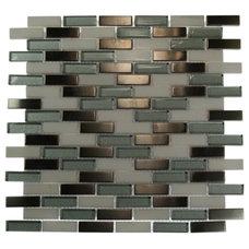 Contemporary Tile by Tile Bar