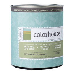 Inspired Interior Multi-Purpose Primer, Quart - Colorhouse paints are zero VOC, low-odor, Green Wise Gold certified and have superior coverage and durability.   Our artist-crafted colors are designed to be easy backdrops for living. Colorhouse paints are 100% acrylic with NO VOCs (volatile organic compounds), NO toxic fumes/HAPs-free, NO reproductive toxins, and NO chemical solvents. Multi-Purpose Primer performs like a premium conventional primer, with excellent hide and adhesion. For use on new wallboard, raw wood, cured masonry or concrete, aluminum and galvanized metal, surfaces previously painted with water or oil-based paint, and when painting a lighter color over a darker color to reduce the amount of topcoat needed.