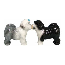 WL - 3 Inch Grey/Black Old English Sheepdogs Kissing Salt and Pepper Set - This gorgeous 3 Inch Grey/Black Old English Sheepdogs Kissing Salt and Pepper Set has the finest details and highest quality you will find anywhere! 3 Inch Grey/Black Old English Sheepdogs Kissing Salt and Pepper Set is truly remarkable.