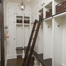 think about a folding ladder so kids can't climb up