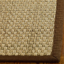 Safavieh - Hand-woven Sisal Natural/ Brown Seagrass Runner (2'6 x 14') - Dress up any space with this natural hand-woven rug made from seagrass with a cotton backing. The fringeless border on this rug gives it a clean look.