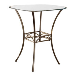 """Hillsdale - Hillsdale Brookside Bar Height Bistro Table - Hillsdale - Pub Tables - 4815PTB - Hillsdale Furniture's versatile bistro collection features the panache of a pub with all comfort and convenience of full scale dining. This rounded corners bar height table is topped with a stunning 36"""" diameter glass top and can be sold with your choice of four barstools. The Marin barstool upholstered in the always popular beige microfiber and finished in a flecked brown features a traditional slat back accented by a fossil stone filled diamond motif. Our Hanover barstool features a delicate lattice backed design and boasts the same finish and fabric as the Marin. Last our always in demand Brookside barstools are a lovely compliment to the this table as well. This ensemble offers so many choices and is lovely as a complete collection. No need for a complete dining group these barstools are all elegant alone as well and would make fine additions to your kitchen or bar area."""