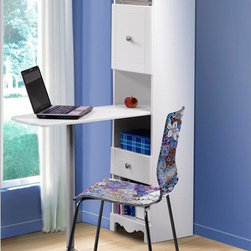 Nexera - Pixel Bookcase Desk Multicolor - 311803 - Shop for Childrens Desks from Hayneedle.com! She's going to love the Pixel Bookcase Desk! This ultra versatile desk has fresh modern style and plenty of storage plus it folds up into a cool bookshelf! It has an adjustable metal leg that supports the desk as well as a reversible door catchall drawer and plenty of open cubby storage/display spaces. The white lacquer finish and contemporary scalloped design mean this bookcase desk will match her style whether that's color-drenched hippie glamour girl or retro cool.About Megalak Finition Inc.Megalak Finition is a Canadian-based company specializing in quality ready-to-assemble bedroom office and entertainment furniture. Megalak Finition prides itself on creating personalized home furnishings as unique as you - furniture that allows you to create a space all your own. Look to Megalak Finition furniture to find your new style: eco-chic retro or glamorous. Megalak Finition provides stylish quality workmanship worthy of your home.