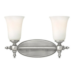 Hinkley Lighting - Hinkley Lighting 5742AN Yorktown Antique Nickel 2 Light Vanity - Hinkley Lighting 5742AN Yorktown Antique Nickel 2 Light Vanity