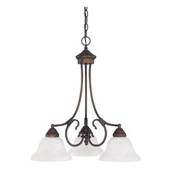 Capital Lighting - Capital Lighting Hometown Transitional Chandelier X-022-BB4223 - In a warm, rustic metal finish perfectly matched with white faux alabaster glass, this three-light chandelier is an expressive and elegant decor addition. The Bruck Lighting Hometown Transitional chandelier provides a lovely, inviting glow creating a warm, intimate ambiance for any room setting.
