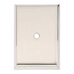 Alno Inc. - Alno Inc. 1 3/4 Inch Rectangle Backplate Polished Nickel - Alno Inc. 1 3/4 Inch Rectangle Backplate Polished Nickel  Made from Solid Brass.