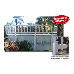 Blue Wave - Blue Wave Above Ground Ovale Ground Fence Add-On Kit C (2Sect) - White, 2 Sections, Steps, Ladders Fencing 1