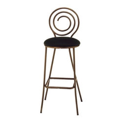 """Grand Rapids Chair - Spiral Barstool (24"""" - 29.5"""") (Set of 2) - The playful yet sophisticated design of the Spiral Barstool will add a touch of elegant whimsy to your space. Add a swivel barstool or chair to match! All Grand Rapids chairs and barstools are highly customizable, so be sure to check out all the options listed. Please call if you dont see anything that meets your needs, because there's a good chance that Grand Rapids can make any product suit your preferences. Features: -Metal chairs are manufactured from high quality plating grade steel-significantly stronger than the industry standard. -Hand tailored, coped and brazed joints to maximize strength and prevent rust. -Oven-baked epoxy/polyester finish. -Two inches of HR (High Resilience) foam, considered the Cadillac of cushioning. -Made in the USA. -Constructed for commercial/restaurant usage. -Premium carpet glides. -Seat Height  If you need a specific height that is not listed be sure to call. -Upholstery  Grand Rapids carries many fabric options, if you do not see anything to your liking or have your own fabric, please call and one of our customer service representatives will assist you with your order. -NOTE: COM (customer's own material) orders are non-returnable. -CAL 133  If you need any of Grand Rapids chairs to meet California bulletin 133 please call. -CAL 117 Standard. Dimensions: -Seat: 29.5"""" H x 17"""" W x 19.5"""" D. -Overall: 42.75"""" H x 17.5"""" W x 20.5"""" D, 25 lbs."""