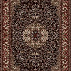 "Concord Global - Concord Global Persian Classics Isfahan Black 7'10"" x 11'2"" Rug (2033) - The majority of designs in this collection are replicas of antique Persian rugs. In this 1 million point per square meter quality the colors and fine denier yarn are purposely chosen to give the look of the original hand made old rugs. These classic Persian style rugs are so elegant that they would convert your rooms into most beautiful atmosphere instantly. Persian Classics collection has the world's most popular designs and offers the best quality-value combination"
