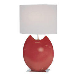 Lite Source - Lite Source LS-21335RED Spazio Table Lamp - Lite Source LS-21335RED Spazio Table Lamp