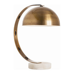 """Arteriors - Arteriors Home - Bond Vintage Table Lamp - 42326 - Arteriors Home - Bond Vintage Table Lamp - 42326 Features: Bond Collection Table LampAntique ColorVintage FinishBronze marble Lamp body materialOn / Off rocker ADA Switch typeHand crafted. UL and CUL listed. 7"""" Dia. FP"""" Foot print7"""" Dia. FP Lamp body base11.5"""" Bottom6"""" SideBlack Cord colorHand crafted and variations in finish occurAccommodates 60W A - E26 incandescent (bulbs not included)110V - 120V VoltageModern style Some Assembly Required. Dimensions: Overall : 17"""" W x 11.5"""" D x 20"""" HBase: 11.5"""" W x 11.5'' D x 6.5"""" H"""