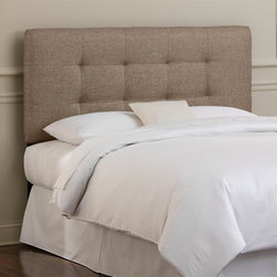 Skyline Furniture - Tufted Headboard w Foam Padding in Groupie Gu - Choose Size: KingAdjustable legs. Plush foam padding. Attaches to standard bed frames. Made from 65% polyester and 35% viscose. Made in the USA. Minimal assembly required. Twin: 41 in. L x 4 in. W x 51 in. H (24 lbs.). Full: 56 in. L x 4 in. W x 51 in. H (31 lbs.). Queen: 62 in. L x 4 in. W x 51 in. H (33 lbs.). King: 78 in. L x 4 in. W x 51 in. H (45 lbs.). California king: 74 in. L x 4 in. W x 51 in. H (40 lbs.)Modern hand-tufted headboard in a metallic linen upholstery