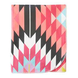 Cotton Baby, Pink Kilim - - a breathable, lightweight and warm blanket for your little one