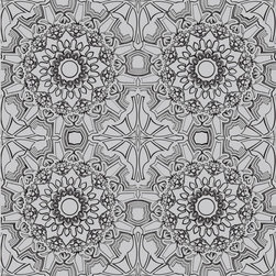 Tempaper - Platinum ME055 Medallion Self-Adhesive Wallpaper - Platinum ME055 Medallion Self-Adhesive Wallpaper is self-adhesive and has 12 inches of pattern repeat. This self-adhesive wallpaper is revolutionary in the home decor industry. It can be easily removed, repositioned or readjusted to match your style. It is the perfect wallpaper for renters, or people who just like to change their home decor often! Liven up any room as frequently as you like with self-adhesive removable wallpaper. Collection name: Tempaper Size of each double roll is 20.5 inches x 33 feet. Each double roll covers about 56.37 square feet / 5.24 square meters. Wallpapers are priced per single roll, but packaged and sold in double rolls only. Please order the number of single rolls that you will need, but you must order in multiples of two (even numbers) only.