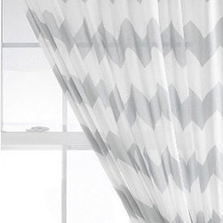 Zig Zag Curtain - Chevron and zig-zag patterns don't show any signs of losing popularity anytime soon, and these lovely graphic print curtains in soft gray will add sophisticated style to your windows.