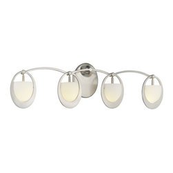 George Kovacs - Earring 4-Light Bath - What goes 'round comes 'round. It's simple: Your good taste and natural sense of design has come full circle … and your good fortune is being manifested by the acquisition of these sophisticated orb-inspired bath lamps.