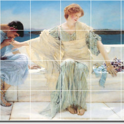 Picture-Tiles, LLC - Ask Me No More Tile Mural By Lawrence Alma-Tadema - * MURAL SIZE: 32x48 inch tile mural using (24) 8x8 ceramic tiles-satin finish.
