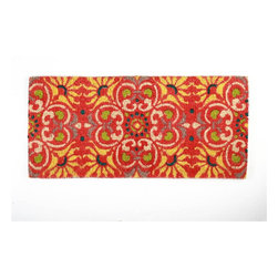 Tag Everyday - Salsa Estate Coir Mat - Creates a welcoming entrance to your home. Bleached coir. They're stylish, functional and eco-friendly. Printed with pigment dyes. Best maintained under a protected area. Can be shaken, brushed or vacuumed clean. Color: Cayenne . 18 in. x 40 in.
