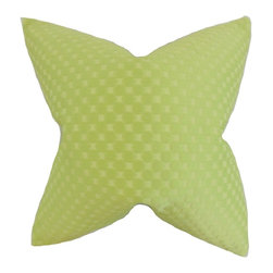"The Pillow Collection - Kasen Solid Pillow, Green 18"" x 18"" - Make your home inviting and fresh with this lovely throw pillow."