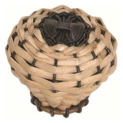Atlas Homewares - Atlas 3122 Hamptons Bamboo Weaved 2-Inch Door Knob Bamboo Weaved - Atlas 3122 Hamptons Bamboo Weaved 2-Inch Door Knob Bamboo Weaved