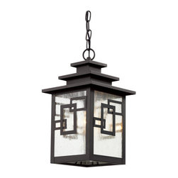 """Trans Globe Lighting - Trans Globe Lighting 40184 WB 1 Light 16"""" Outdoor Pendant - Specifications:"""