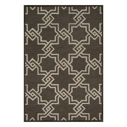 "Loloi Rugs - Loloi Rugs Celine Collection - Ash / Grey, 2'-3"" x 7'-6"" - Combining sophisticated tonal colors with geometric patterns, the Celine Collection is a great option for modern interiors. The collection is hand hooked in India of 100% wool, with high pile defining the pattern and adding texture. Available in a variety of sizes to suit any room.�"