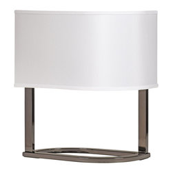 """Signature Design by Ashley - 18"""" Set of 2 Rong Table Lamps Black Nickel - A set of two contemporary black nickel table lamps from Famous Brand Lighting"""