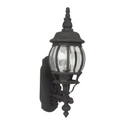 Exteriors - Exteriors Cast Aluminum French Style Traditional Outdoor Wall Sconce X-50-023Z - Mounting the Craftmade Cast Aluminum French Style Traditional Outdoor Wall Sconce - CM-Z320 on your porch, garage, or main entrance will allow you to savor the bold lines and vintage appeal of this classy piece with a rust finish. The clear beveled glass provides a friendly glow. Detailed styling demands admiration and solid framing ensures durability.