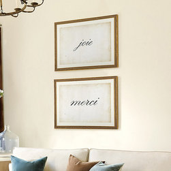 Ballard Designs - Script Framed Art - Choose up to 10 letters/spaces. Single Cream mat. Glass front. Create your own work of framed art. Spell out a favorite name, inspirational word or simple message in black script printed on a cream, parchment-look background. We've framed in timeless gold wood, so you can hang it anywhere. Script Framed Art features: . . .