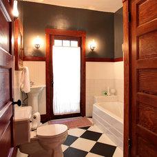 Farmhouse Bathroom by Stephanie Wiley Photography