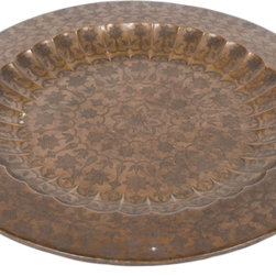 Singh Imports - Consigned Antique Moghul  Style Copper Tray - This is a very fine 19th century copper tray. It came from a palace from Lucknow. One of a kind.