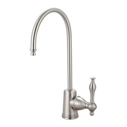 Kingston Brass - Kingston Brass Naples Satin Nickel Gourmetier Water Filtration Faucet KS7198NL - The Naples water filtration faucet is built thin with a   turn lever and a slender J-shaped spout. Its simple construction provides easy managing but assembled for long-lasting reliability.. Manufacturer: Kingston Brass. Model: KS7198NL. UPC: 663370099410. Product Name: Gourmetier KS7198NL Naples Water Filtration Faucet, Satin Nickel. Collection / Series: Naples. Finish: Satin Nickel. Theme: Classic. Material: Brass. Type: Faucets. Features: Fabricated from high quality brass material for durability and reliability