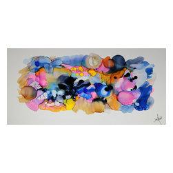 Hand-painted Original Direct from Artist - Jon Allen - Modern Metal Abstract Composition 1 - Handpainted Original by Jon Allen - Modern Metal Abstract Composition 1  |  Handpainted Original by Jon Allen
