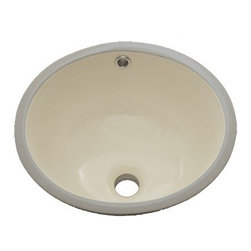 """TCS Home Supplies - 15 Inch Porcelain Ceramic Vanity Undermount Bathroom Vessel Sink - This large undermount sink makes a striking addition to any style of bathroom countertop. This vitreous china undermount sink is available in white, biscuit, and black to blend well with many stone vanity top colors.Dimensions 19-1/2"""" x 15-3/4"""" x 8"""""""
