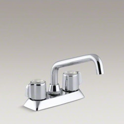 KOHLER - KOHLER Coralais(R) utility sink faucet with blade handles - Transform your laundry room or utility area into an efficient, uncluttered workspace with this Coralais faucet. Ideal for household cleaning tasks, this durable utility sink faucet includes a plain-end swing spout, so you can direct the water exactly wher