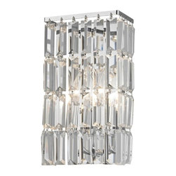 Ashford Classics Lighting - Crystal Sconce Wall Light in Chrome Finish - 2254-26 - Crystal chrome 2-light sconce. Takes (2) 40-watt incandescent flame bulb(s). Bulb(s) sold separately. UL listed. Dry location rated.