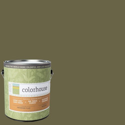 Inspired Flat Interior Paint, Glass .06, Gallon - Colorhouse paints are zero VOC, low-odor, Green Wise Gold certified and have superior coverage and durability. Our artist-crafted colors are designed to be easy backdrops for living. Colorhouse paints are 100% acrylic with no VOCs (volatile organic compounds), no toxic fumes/HAPs-free, no reproductive toxins, and no chemical solvents.