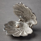 Silvery Seashell Ring Holder - Keep your baubles in this silver seashell ring holder when you go play in the sand.