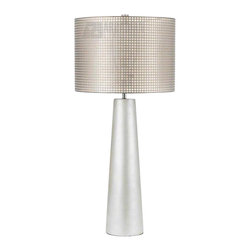 Horizons - Horizons Lola Transitional Table Lamp X-LT-3118 - From the Lola Collection, this AF Lighting table lamp dazzles with the grid detailing of the natural gauze hard back drum shade. This transitional table lamp features a simple shape with fuss-free styling and gentle tapering, finished in a beautiful Pearl hue that is sure to please.