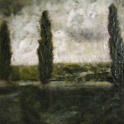 theresastirling.com - Just Outside of Cortona - Encaustic is a luminous medium of beeswax, natural resin and oil. Each piece is uniquely made, and lovingly built up one layer at a time, using a blowtorch to fuse the brushstrokes. There is much scraping and adding that evolves into 30 or 40 layers over a photograph.  The final result glows and shows a luminosity that is beatiful and unlike any others. My inspiration comes from nature;  the arrangement of fur or leaves and how that beauty a gift to the eyes and senses.  All paintings are made to order.