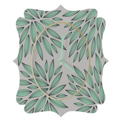 DENY Designs - Gabi Mint Quatrefoil Clock - Tick tock, tick tock. When time feels like it's standing still, check out the quatrefoil clock collection. With a sleek mix of baltic birch ply trim that's unique to each piece and a glossy aluminum face, this quatrefoil clock is just what you need to make the day go by just a little bit faster.