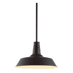 ZUO PURE - Tin Ceiling Lamp Rust - A reproduction of an enamel pendant that's been a fixture  literally  in barns across the country for the last century, this design classic deserves to be brought indoors. The Tin ceiling lamp comes with one 100w bulb and is UL approved.