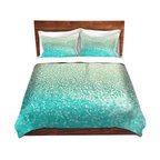 DiaNoche Designs - Duvet Cover Twill - Gatsby Mint - Lightweight and soft brushed twill Duvet Cover sizes Twin, Queen, King.  SHAMS NOT INCLUDED.  This duvet is designed to wash upon arrival for maximum softness.   Each duvet starts by looming the fabric and cutting to the size ordered.  The Image is printed and your Duvet Cover is meticulously sewn together with ties in each corner and a concealed zip closure.  All in the USA!!  Poly top with a Cotton Poly underside.  Dye Sublimation printing permanently adheres the ink to the material for long life and durability. Printed top, cream colored bottom, Machine Washable, Product may vary slightly from image.