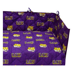 College Covers - NCAA Louisiana State Tigers LSU Crib Bedding Set - Features: