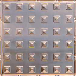 """Decorative Ceiling Tiles - Uptown - Copper Ceiling Tile - 24""""x24"""" - #2478 - Find copper, tin, aluminum and more styles of real metal ceiling tiles at affordable prices . We carry a huge selection and are always adding new style to our inventory."""