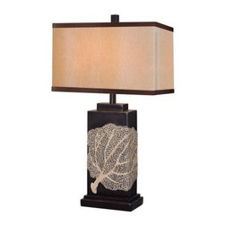 Unbranded - Oil Rubbed Bronze Table Lamp: Sea Fan 28 in. Bronze Table Lamp 32296ORB - Shop for Lighting & Fans at The Home Depot. Derived from nature 's majesty, the Sea Fan Lamp's delicate creamy pattern on Oil Rubbed Bronze Finish base, wraps around to offer its chic view to all sides. Substantial in size at 28 in. high, Sea Fan avoids a bulky appearance by the slim side angle of the rectangular frame. Sized for Living Aras and equally at home in Classic or Casual environments. Sea Fan brings its welcoming beauty to any decor.