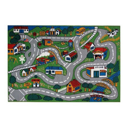 Fun Rugs - Country Fun Kids Multicolor Rug - Your child's room is a natural extension of them. Add these innovative designs from LA Rug to spruce up any child's decor.