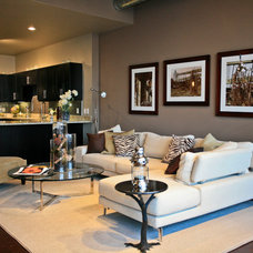 Contemporary Living Room by Jeanine Turner