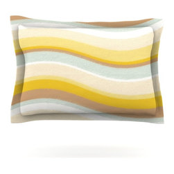 """Kess InHouse - Nika Martinez """"Desert Waves"""" Pillow Sham (Cotton, 40"""" x 20"""") - Pairing your already chic duvet cover with playful pillow shams is the perfect way to tie your bedroom together. There are endless possibilities to feed your artistic palette with these imaginative pillow shams. It will looks so elegant you won't want ruin the masterpiece you have created when you go to bed. Not only are these pillow shams nice to look at they are also made from a high quality cotton blend. They are so soft that they will elevate your sleep up to level that is beyond Cloud 9. We always print our goods with the highest quality printing process in order to maintain the integrity of the art that you are adeptly displaying. This means that you won't have to worry about your art fading or your sham loosing it's freshness."""