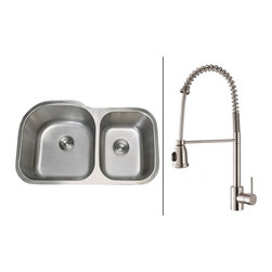 Ruvati - Ruvati RVC2558 Stainless Steel Kitchen Sink and Stainless Steel Faucet Set - Ruvati sink and faucet combos are designed with you in mind. We have packaged one of our premium 16 gauge stainless steel sinks with one of our luxury faucets to give you the perfect combination of form and function.